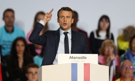 Emmanuel Macron speaking in Marseille