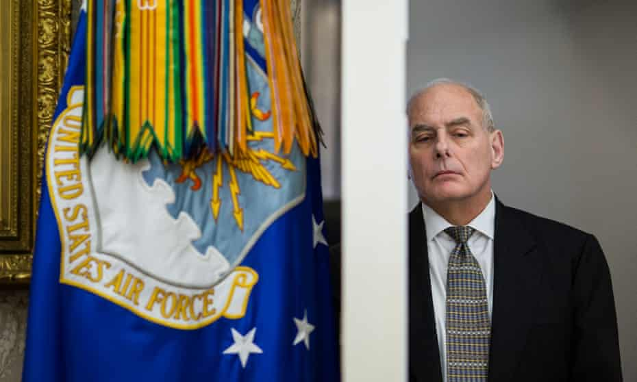 John Kelly said: 'Right now, the champion of all people who are Daca is Donald Trump.'