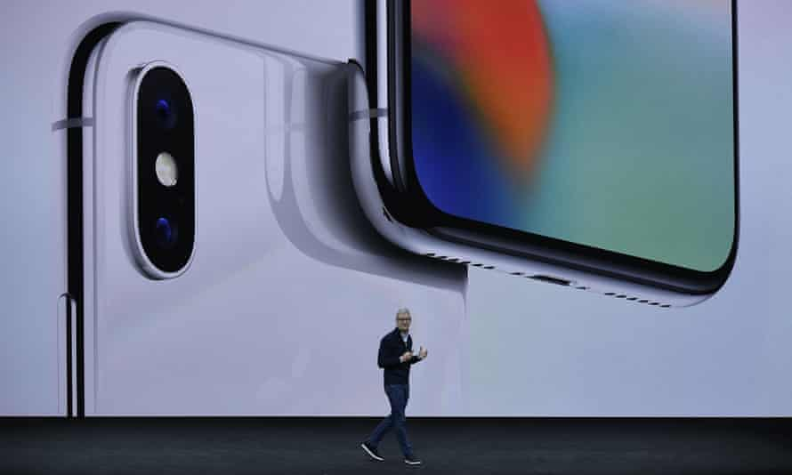 Apple chief executive Tim Cook launches the iPhone X – the most expensive phone the firm has ever released.