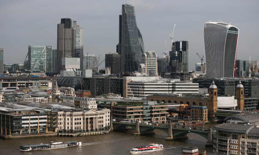 The City of London's skyline and the Thames.