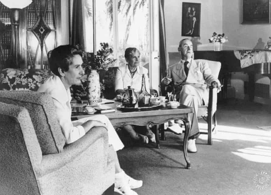 Erika, Katia and Thomas Mann in 1950.