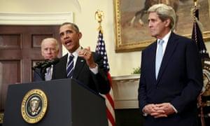 obama kerry biden keystone