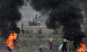 Clashes east of Gaza City near the border with Israel on Friday