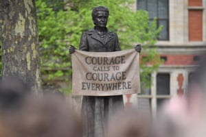 The statue of suffragist and women's rights campaigner Millicent Fawcett by British artist Gillian Wearing