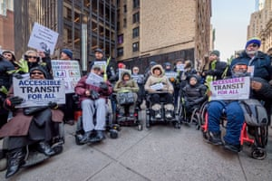 New York, US Members of disability and transit groups, and advocates for pregnant women held a press conference and vigil outside the 53rd-7th Avenue subway station. Malaysia Goodson died at the station last Monday after she fell down a flight of stairs carrying her baby in a stroller.
