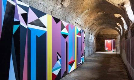 Catrin Huber's panels installed in Pompeii