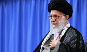 Ayatollah Ali Khamenei attends a meeting with survivors of the hajj crush in Tehran