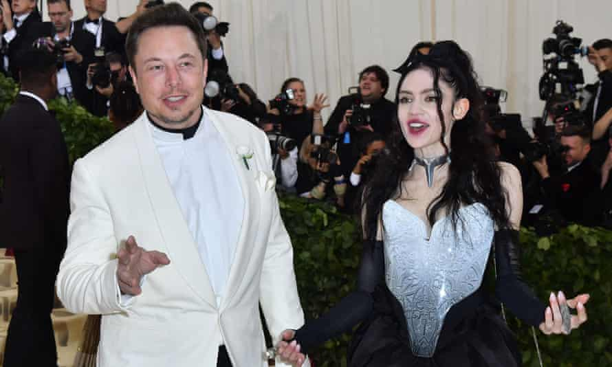 Elon Musk and Grimes at the 2018 Met Gala.