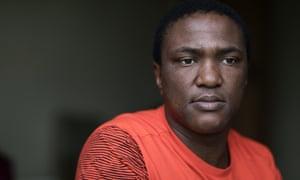 Fusi Motsamai, whose wife, Nancy, died last month.