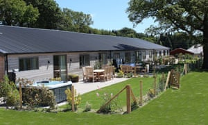One of the wheelchair-accessible cottages at Wallops Wood, Droxford, Hampshire.