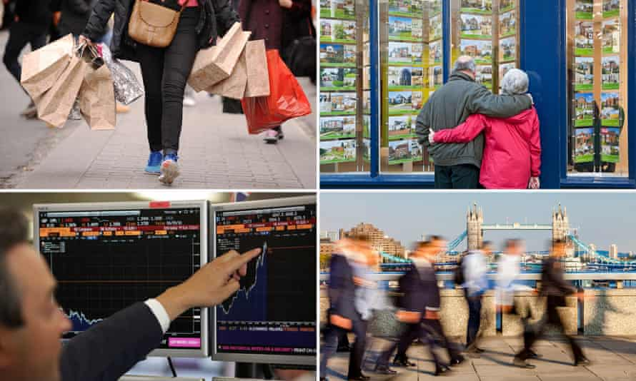 Shopping, house prices, stock markets and jobs