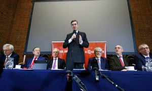 Jacob Rees-Mogg and members of the European Research Group