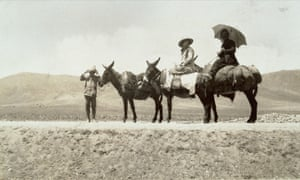 Famous footsteps: Freya Stark in Jebel Druze in the 1930s.