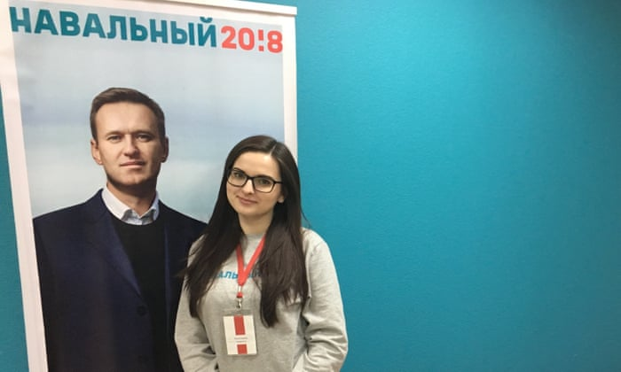 Ksenia Pakhomova, head of the Navalny campaign in Kemerovo