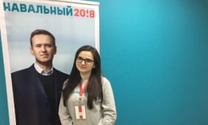Ksenia Pakhomova, head of the Navalny campaign in Kemerovo