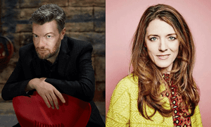 Charlie Brooker and Annabel Jones, creators of Black Mirror.