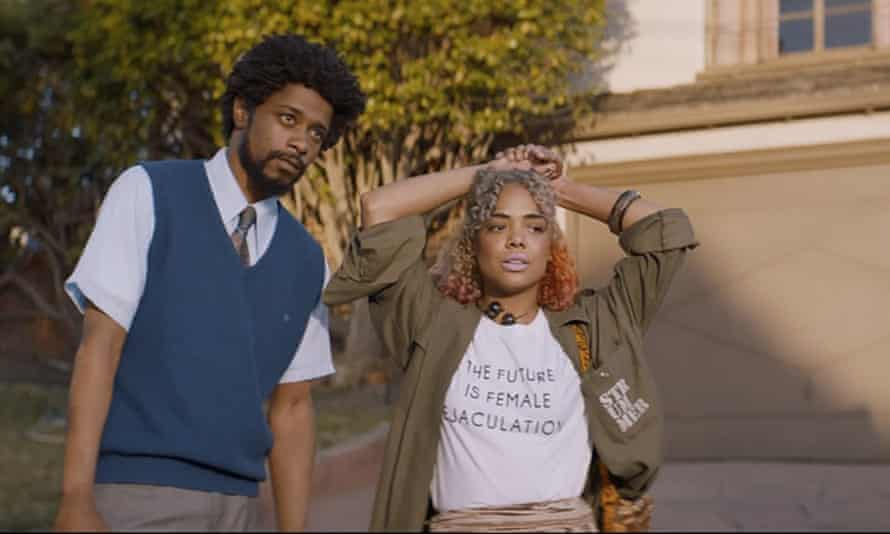 Dark comedy Sorry to Bother You displays the dehumanization that occurs through economic insecurity.