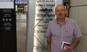 Ian Hassey from Thetford in Norfolk, at Heathrow Terminal 2