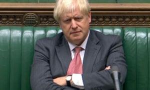Boris Johnson during the debate over the internal market bill on Monday night.