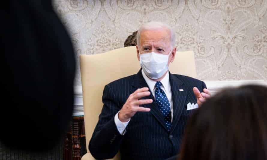 Biden at the White House on Tuesday. His press secretary, Jen Psaki, said he would not be watching the impeachment trial.