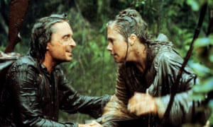 Turner with Michael Douglas in Romancing the Stone (1984).