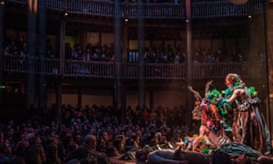 Emma Rice's production of A Midsummer Night's Dream at the Globe Theatre, spring 2016.