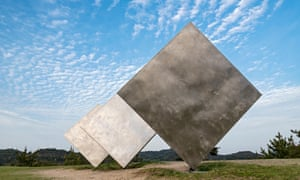 George Rickey's Three Squares installation in Naoshima.