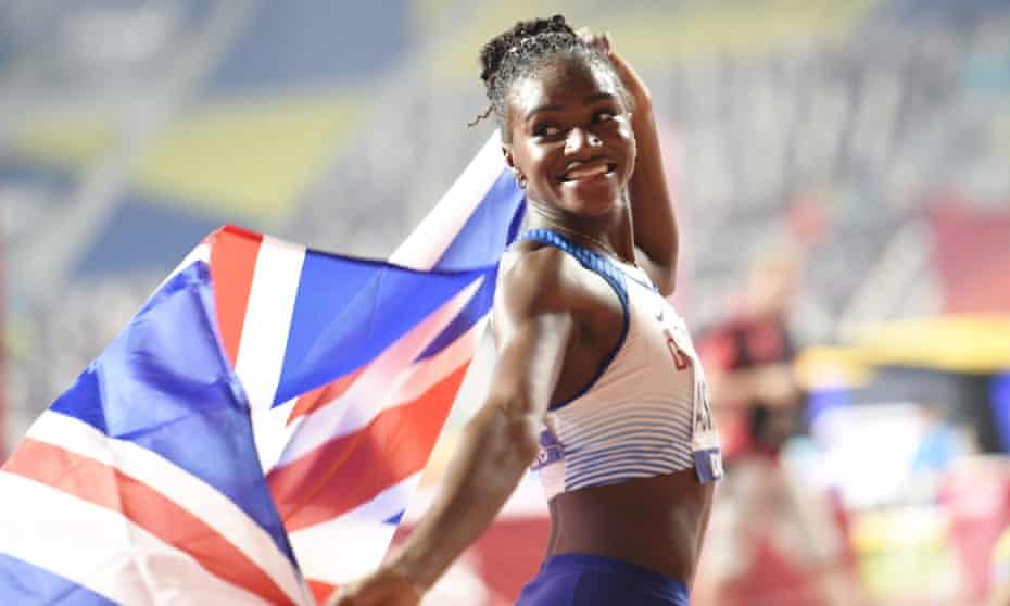 Golden girl: at the IAAF World Championships in Doha, Qatar, 2019.