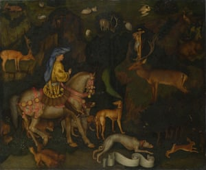 The Vision of Saint Eustace, circa 1438-42, by Pisanello
