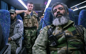 Idlib, Syria: Rebel fighters and their families