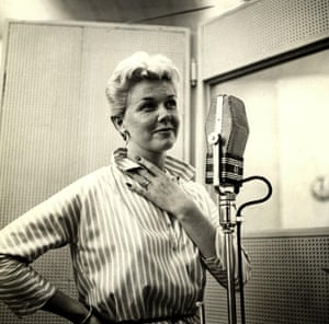 Doris Day in the recording studio on 15 June 1955