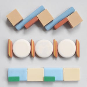 Artfully arranged erasers and stationery instagram photographs by Present & Correct stationery shop owner Neal Whittington.