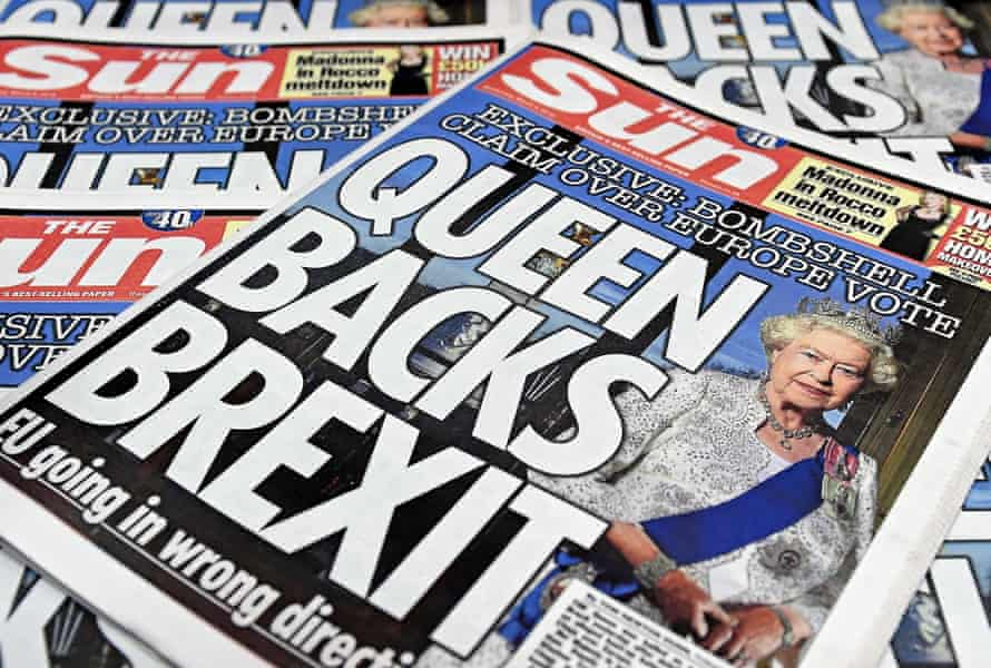 The Sun front page that carried the offending headline.