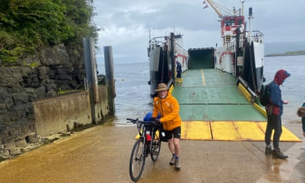Kevin disembarking on Mull
