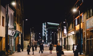 """Michael Pinsky has turned part of Hull's tidal barrier into an art installation, where words spoken into a microphone are translated into text, intended to be a """"speakers' corner for the 21st century"""". The City Speaks is part of Look Up, commissioned for Hull as UK City of Culture 2017."""