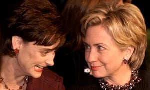 Cherie Blair and Hillary Clinton, pictured in 1999, have been friends since their husbands ran the White House and Downing Street.