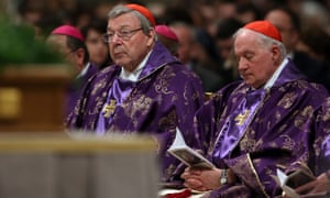 Cardinal George Pell attends Ash Wednesday Mass at St Peter's Basilica on 10 February.
