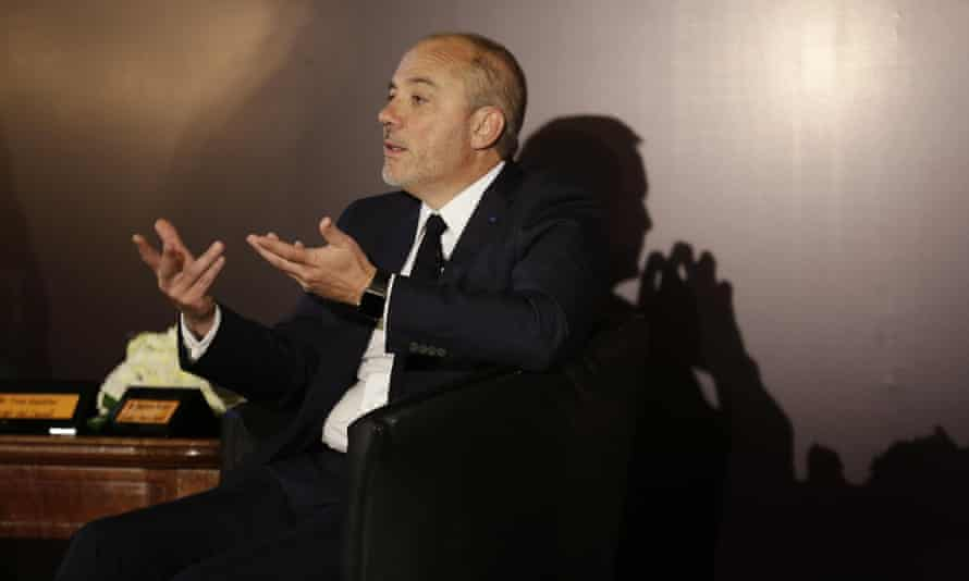 Speaking at a news conference in Cairo, Stephane Richard says his company intends to withdraw the Orange brand from Israel as soon as possible