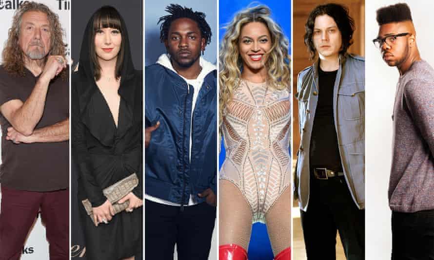 The elements of Beyonce's Lemonade: Robert Plant, Karen O, Kendrick Lamar, Jack White and MNEK