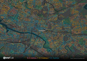 Esri UK Glasgow zoom map .