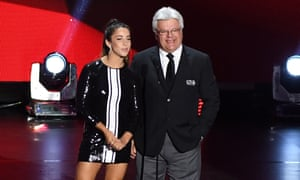 Aly Raisman appeared alongside Marcel Dionne to present the Lady Byng Trophy