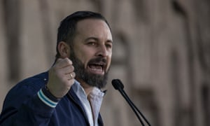 The leader of far-right party Vox, Santiago Abascal.