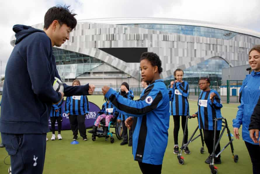 Son Heung-Min was attending a Tottenham Hotspur Foundation event with the girls football team at The Vale Special School in Northumberland Park.