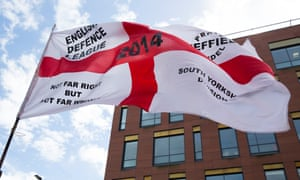 An EDL protest in Rotherham in 2014. There were concerns over posts on its Newcastle Facebook page seeking donations for its 'homeless outreach' work.