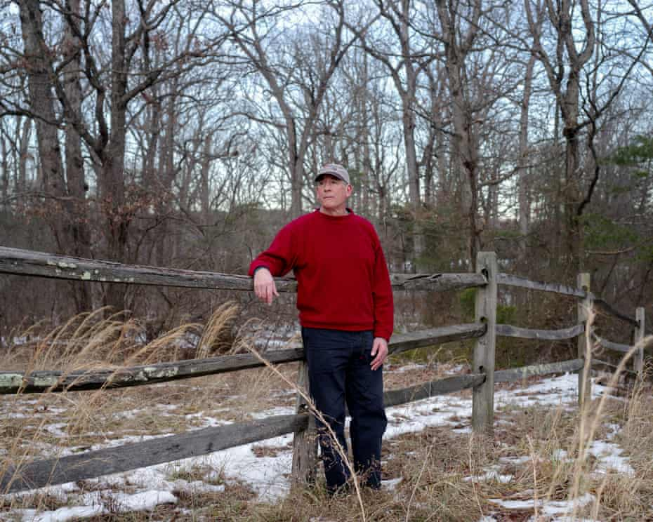 Vienna, VA - FEBRUARY 5, 2021: Kelvin Pierce photographed at a park nearby his home in Virginia. CREDIT: Johnathon Kelso for The Guardian