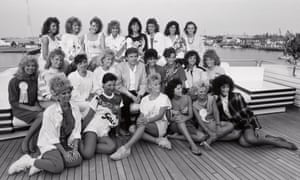 Donald Trump entertains 22 Miss America Pageant contestants on his yacht Trump Princess in 1988.
