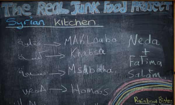 The menu board at the cafe.