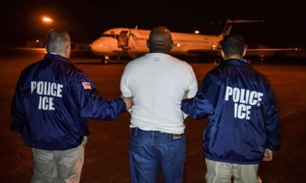 Ice agents in 2017. The messages were exchanged as officials planned raids that year.