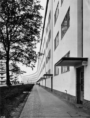 Urban settlement Siemensstadt, Apartment row, northern front, Berlin, 1930