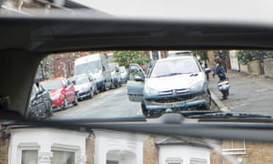 Cars on the school run in London